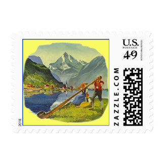ALPINE BIG ALP HORN HORNS OCTOBERFEST STAMPS
