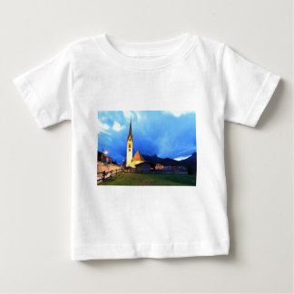alpine church at evening baby T-Shirt