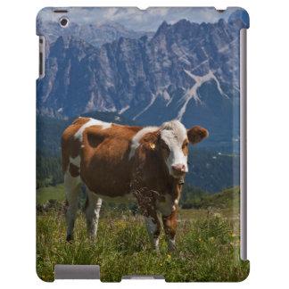 Alpine Cow in Meadow iPad Case