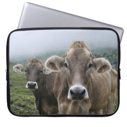 Alpine cow laptop sleeve