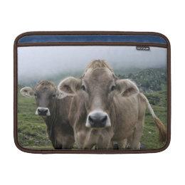 Alpine cow MacBook sleeve