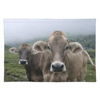Alpine cows placemat