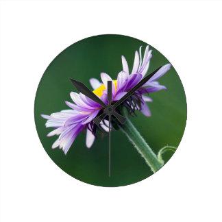 Alpine Daisy Round Clock