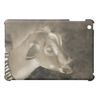 Alpine doe sepia shaved baby goat striped face case for the iPad mini