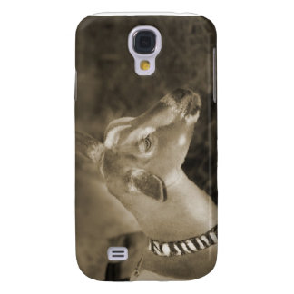 Alpine doe sepia shaved baby goat striped face samsung s4 case