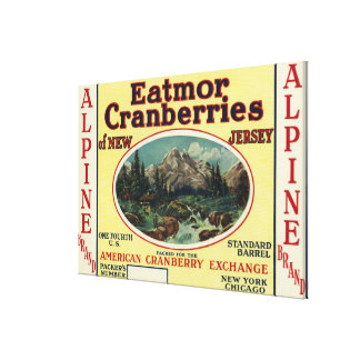 Alpine Eatmor Cranberries Brand Label Gallery Wrapped Canvas