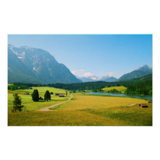 Alpine Farmland Print