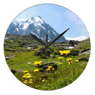 Alpine flowers - Beautiful Wallclock