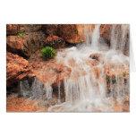 Alpine Garden Waterfall Greeting Card