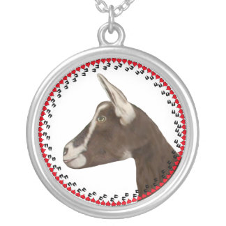 Alpine Goat Hooves and Hearts Necklace