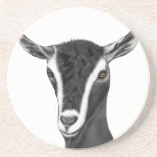 Alpine Goat Sandstone Coaster