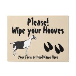 Alpine Goat Wipe your Hooves CHOOSE COLOR Doormat