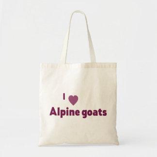 Alpine goats budget tote bag
