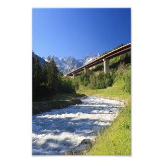 Alpine highway photo art