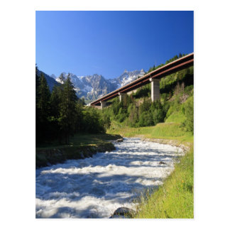 Alpine highway postcard