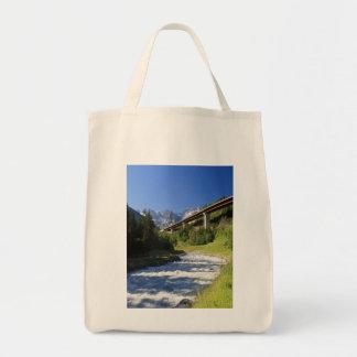 Alpine highway tote bag