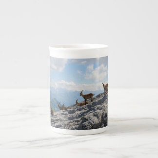 Alpine Ibex Wild Mountain Goats Tea Cup