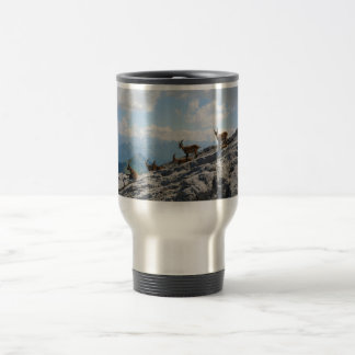 Alpine Ibex Wild Mountain Goats Travel Mug