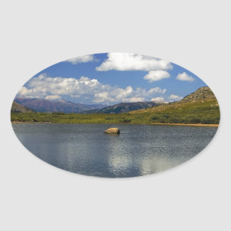 Alpine Lake on the Continental Divide Oval Sticker
