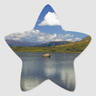 Alpine Lake on the Continental Divide Star Sticker