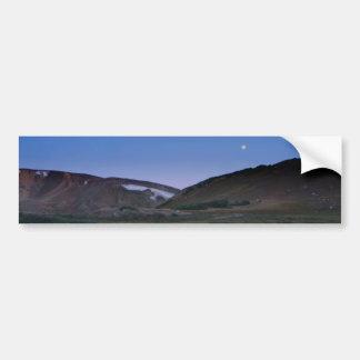 Alpine Lake Reflecting Moon Bumper Sticker