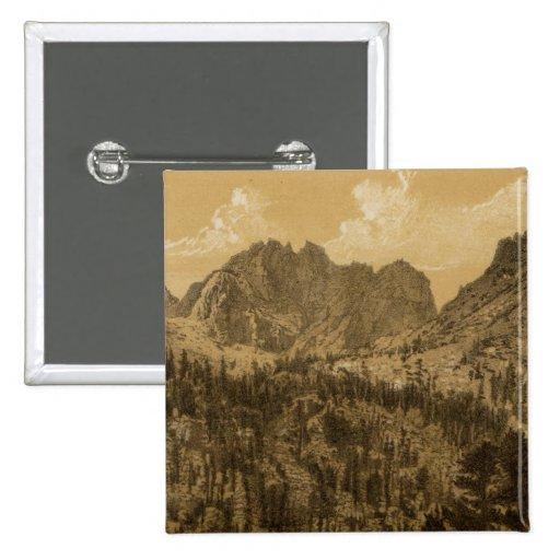 Alpine Lake, Sierra Nevada Button