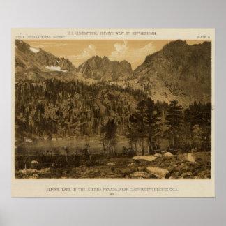 Alpine Lake, Sierra Nevada Poster