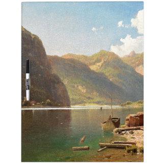 Alpine Lake Wilderness Alps Boat Dry Erase Board