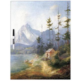 Alpine Lake Wilderness Cabin Boat Dry Erase Board
