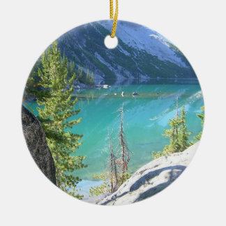 Alpine Lakes Wilderness Ceramic Ornament