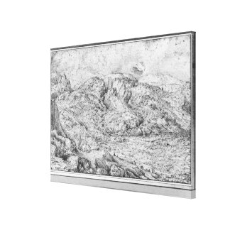 Alpine landscape, 1553 canvas print