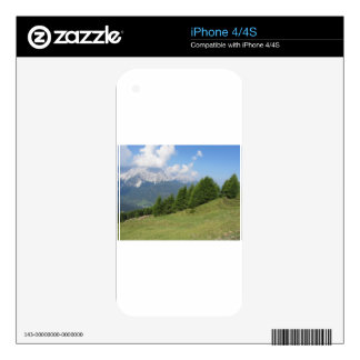 Alpine landscape decal for iPhone 4
