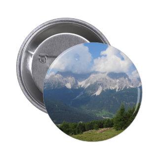 Alpine landscape of Sesto Dolomites, Italy Button