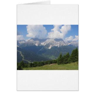Alpine landscape of Sesto Dolomites, Italy Card