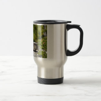 Alpine marmot and its young 15 oz stainless steel travel mug