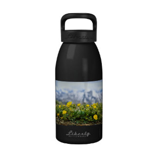 Alpine meadow in Jasper National Park Water Bottles