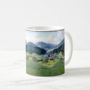 Alpine Meadow Wildflowers Stream Chalets Mug
