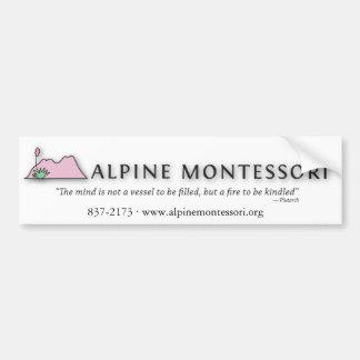 Alpine Montessori Bumper sticker Car Bumper Sticker