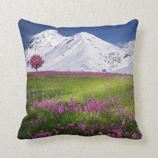 alpine mountain meadow cushion pillow