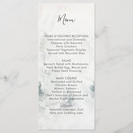 Alpine Mountain Wedding #2 | Menu