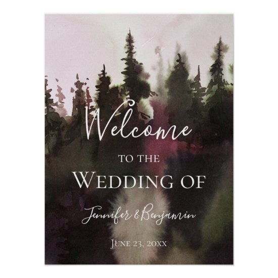 Alpine Mountain Welcome to Our Wedding   Poster