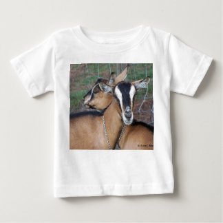 Alpine Oberhasli goat cross young does kids Baby T-Shirt