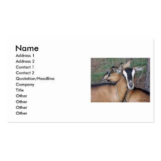 Alpine Oberhasli goat cross young does kids Business Card