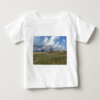 Alpine pasture with cows baby T-Shirt