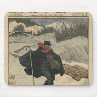 Alpine postmen using ski mouse pad