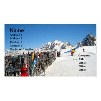 Alpine Ski Resort, Alps Austria Business Cards