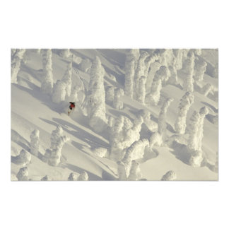 Alpine Skier in thick snowghosts at Big Photographic Print