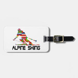 Alpine Skiing Luggage Tag