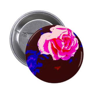 Alpine Sunset Chintz Rose Button