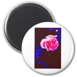 Alpine Sunset Chintz Rose Refrigerator Magnet